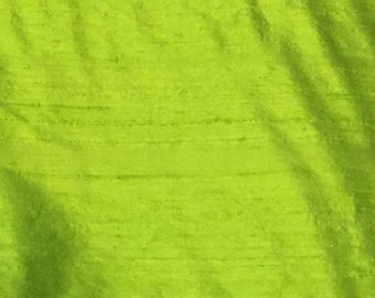 Green Dupione Silk - Grass Green Silk - Lime Green Silk - Dupione Silk - Designer Fabric - Fabric by the Yard - Silk by the Yard