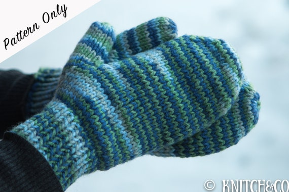 Easy Mitten Knitting Pattern For Beginners Image Collections