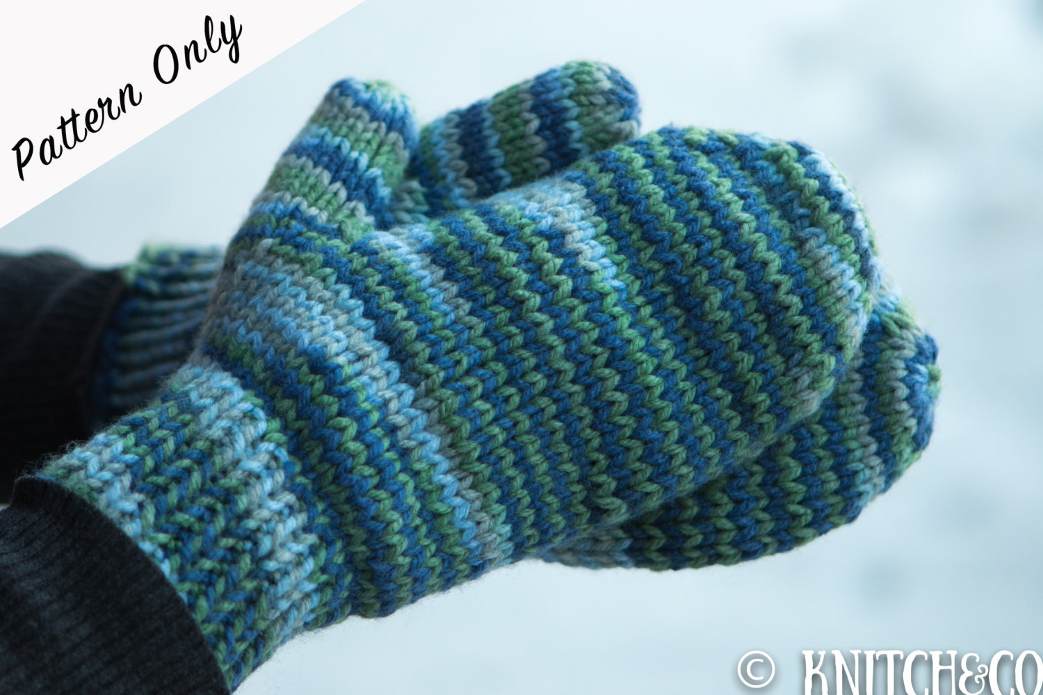 Knitted Mittens Pattern, Chunky Mittens Pattern, Easy Mittens ...