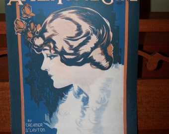 After You've Gone Vintage sheet music dated 1918 Collectible sheet music Antique sheet music Cover art