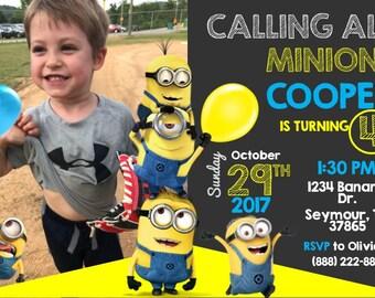 Minion Birthday Invitation- Printable