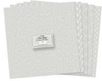 """Silver Linings - 10"""" square pack by Wilmington"""