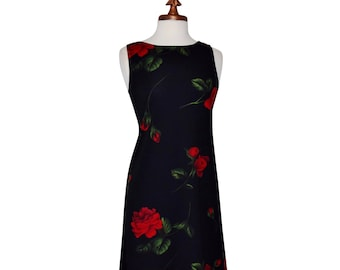 Bold Floral Spanish Rose/Vintage '80's Great American Sportswear Floral Dress