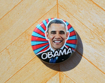 President Barack Obama Democrat- One Inch Pinback Button Magnet