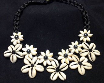 Handmade Cowrie/Cowry Shell Necklace. Options Of Black Or White Cord. Perfect For Dancers Of All Ages, Luau, Birthday Gifts, Beach Wedding.