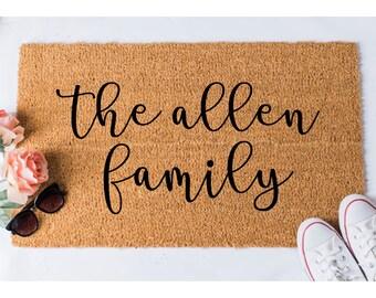 The Family Doormat - Custom Door Mat - Custom Doormat - Personalized Doormat - Cute Doormat - Gift for Married Couple - Gift for Newlyweds