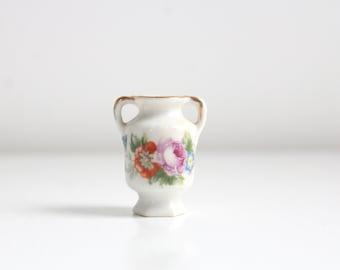 Miniature Vase, Dollhouse Vase, Miniature Floral Vase, White Vase, Mini Vase, Floral Vase, Miniature Porcelain Vase, Tiny Vase, Vintage Vase