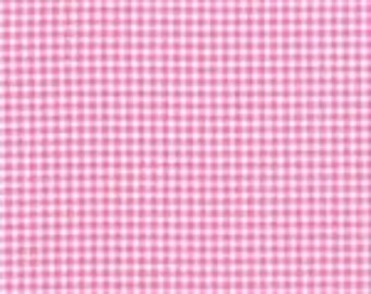 Michael Miller Tiny Gingham in Pink and White 1/2 Yard