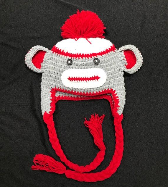 Affe Hut Affen Mütze Affen häkeln Hut Affe gehäkelte