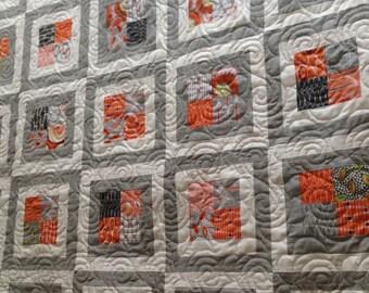 Modern Four Patch Quilt