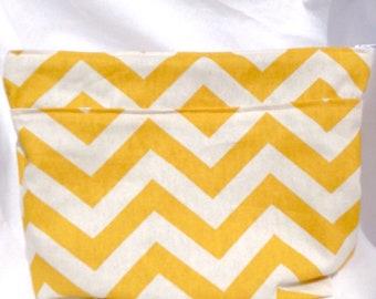 Chevron and Polka Dot Knitting Project Bag Sewn By KnitzAndPearls