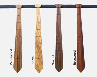 Wood Tie Handcrafted -  Wedding Tie - Special Moment Tie - Also Father & Son collection