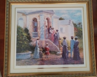 """Signed limited edition print of """"The Christening"""" by Leo S. Carty"""