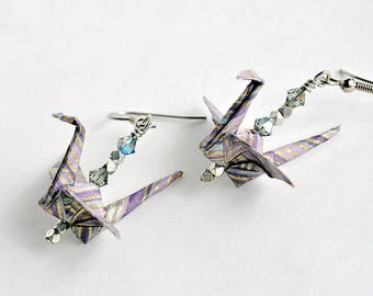 Best winter woman gift  Purple jewelry for wife  Girlfriend purple jewelry  Purple jewelry for friends  Origami jewelry gifts for her