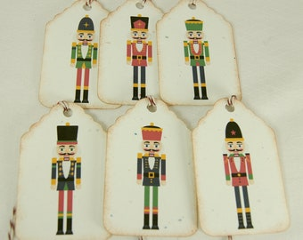 Nutcracker Christmas Tags Journal Tags Gift Tags Pricing Tags set of 12