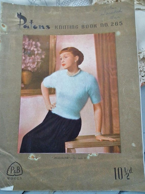 Vintage 1940s Knitting Book Patons No 263 Ladies Patterns