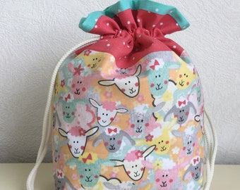 Knitters /Crafters Project Bag  - Funky Sheep - colourway one