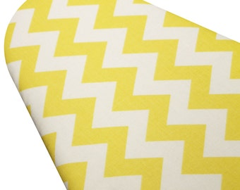 Ironing Board Cover Custom large wide standard tabletop custom size and shape ironing board covers Yellow and White Chevron select the size