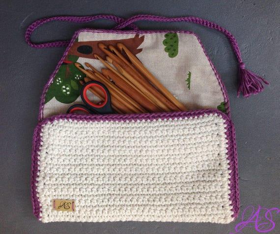 Purse Corchet Pattern Hook Holder Crochet Pattern Cosmetic Bag ...