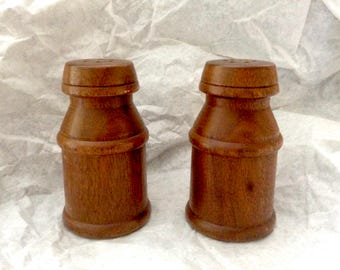 Vintage Wooden Salt and Pepper Shakers Mid Century