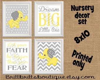 yellow elephant nursery wall art safari nursery wall decor Baby boy nursery decorations Nursery Decor Kids Wall Art Nursery artwork prints