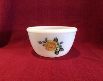 Phoenix Opalware Yellow Rose Mixing Bowl 1.5 pint circa 1960
