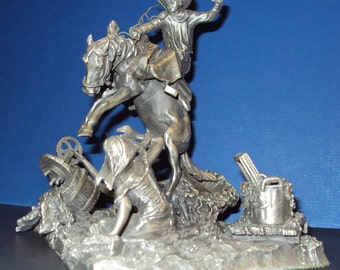 Pewter Figurine by Don Polland signed and dated