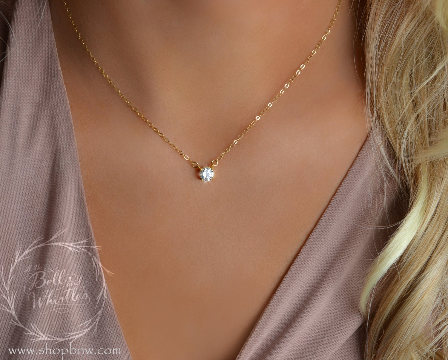 product gold solitaire in necklace diamond white hockley