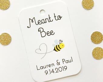 Honey Tags, Meant to Bee Favor Tags, Honey Wedding Tags, Custom Favor Tags (RR-277)