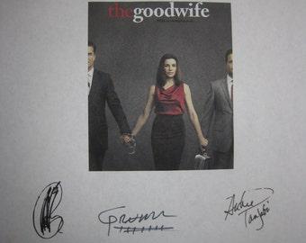 The Good Wife Signed TV Script Screenplay X9 Autographs Julianna Margulies Josh Charles Chris Noth Archie Panjabi Christine Baranski