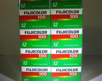 10 rolls Fujifilm Fujicolor 100 speed 35mm color film, 12 exposures