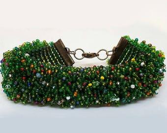 Beautiful Beaded Bracelet - One of a kind