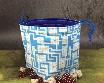 Classic RPG Map Dice Bag