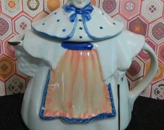 Vintage marked granny ann ceramic teapot