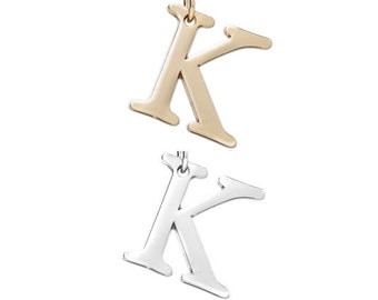 """Letter """"K"""" (silver or gold tone) [5 pieces]"""