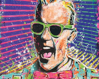 Max Headroom - 12 x 12 High Quality Pop Art Print