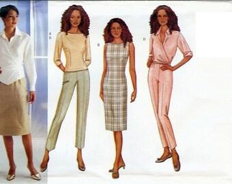 Butterick UNCUT Pattern 3035 - Misses/Misses Petite Top, Dress, Skirt, Pants & Shirt - 18-22