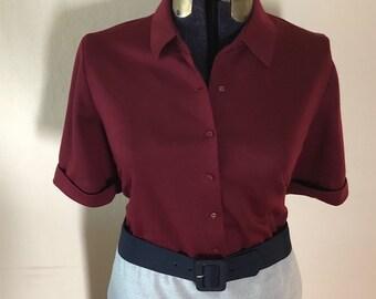 pretty preppy 1950s casual day dress - SZ 22/24
