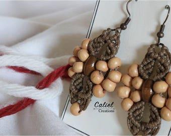 Macramé Earrings and beads