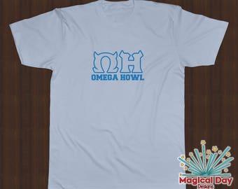 Disney Shirts - Omega Howl (OH) Monsters University (Sky Blue Design)
