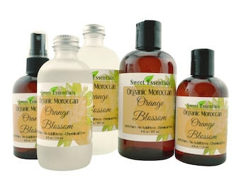 Organic Orange Blossom | Neroli Water | Imported From Morocco | 100% Pure | Facial Toner | Edible For Recipes | Concentrated