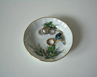 Dishes Gloria Porcelain Bavaria made in Germany handmade 24-carat gold jewelry display holder decorations Romantic Ref: VLS237