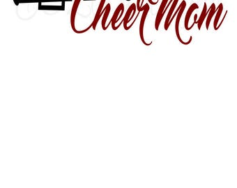 Cheer Mom with Megaphone SVG File