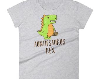 Auntiesaurus Rex Funny Gift For Aunt Dinosaur Ladies T-Shirt for Women
