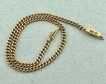 Awesome Vintage Solid 14k Yellow Gold Curb Link Bracelet! 7.5 Inches! 2.3 MM!