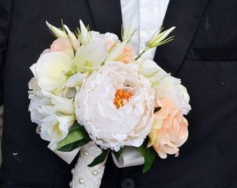 wedding bouquet artificialflower poney rose