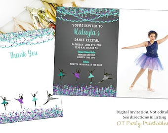 Dance recital invite Etsy