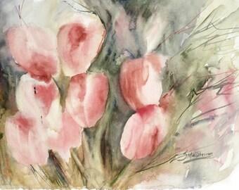 Giclee Fine Art Print: Dancing Tulips