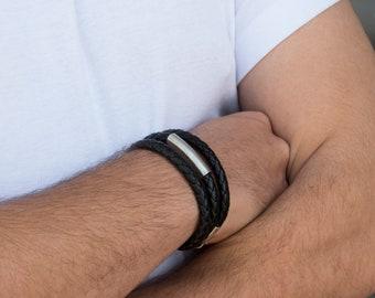 Men's Bracelet - Men's leather Bracelet - Men's Jewelry - Men's Gift - Boyfriend Gift - Husband Gift - Guys Jewelry - Gift For Him - Male