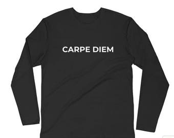 Men's Carpe Diem (Seize the Day on the Back) Long Sleeve T-shirt